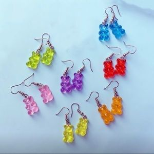Gummy Bear Earrings- 1Pair